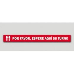 ESPERE SU TURNO - ADHESIVO